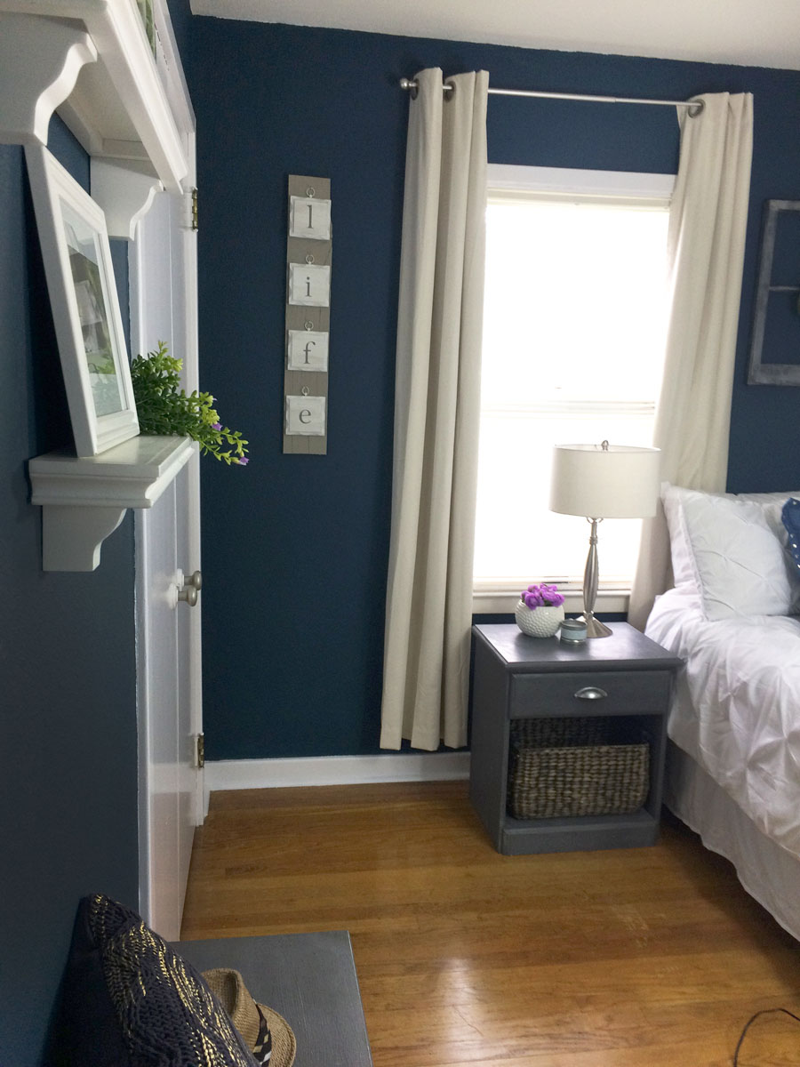 take the tour navy bedroom makeover