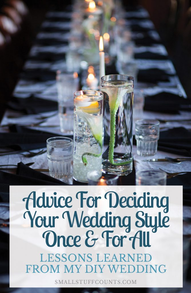 Planning a wedding is so overwhelming! These are some great reminders and tips for choosing a wedding style and theme once and for all.