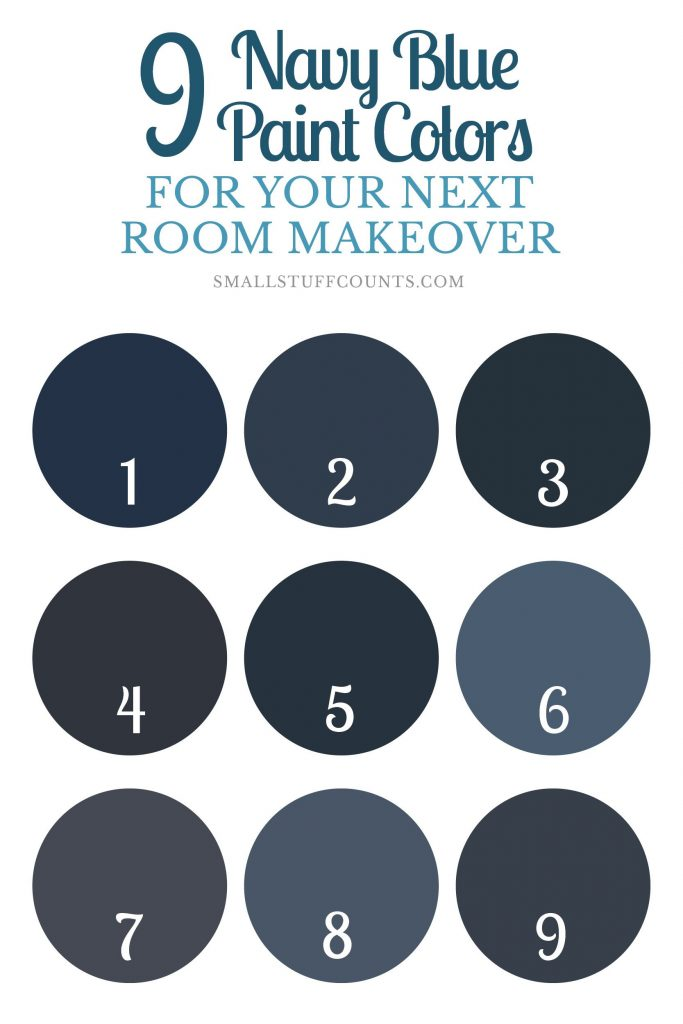9 Striking Navy Blue Paint Colors For
