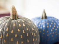 Easy Metallic Patterned Painted Pumpkins