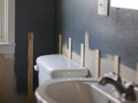 Gray Paint, Batten & A Mirror Frame   Bathroom Progress Report   ORC Week 3