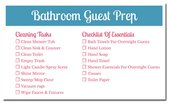 6 Tips For Creating A Guest Ready Bathroom Plus A