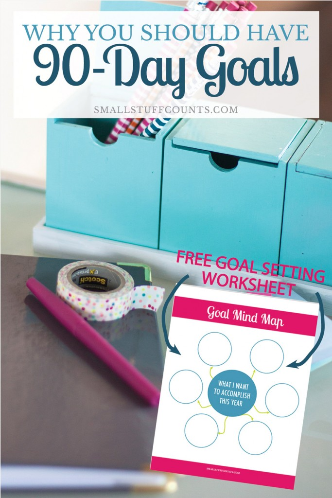 This is a great process for setting realistic 90-day goals. Love the free printable goal setting worksheet.