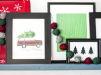 Christmas Picture Ledge & DIY Fabric Garland
