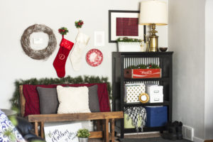 This Christmas living room tour is filled with thrifty and DIY home decor ideas. Great home tour!