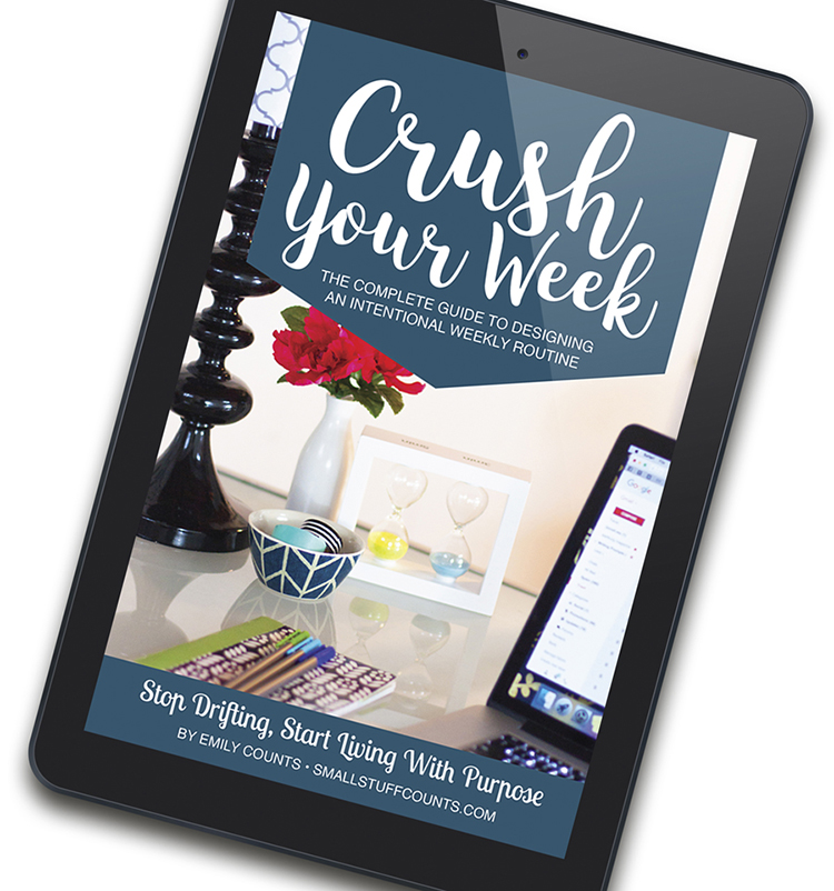 Struggling with time management? Organize your schedule with Crush Your Week: The Complete Guide To Designing An Intentional Weekly Routine. This isn't simply an ebook, but an action guide packed with practical advice and helpful worksheets.