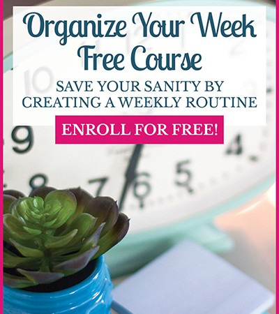 Take control of your schedule and organize your weekly routine with this free five-day ecourse!