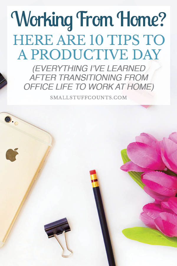 Ahh, I needed to read this today! Working from home is awesome, but it's so easy to get distracted. These are great reminders of things to do to be more productive while working at home.