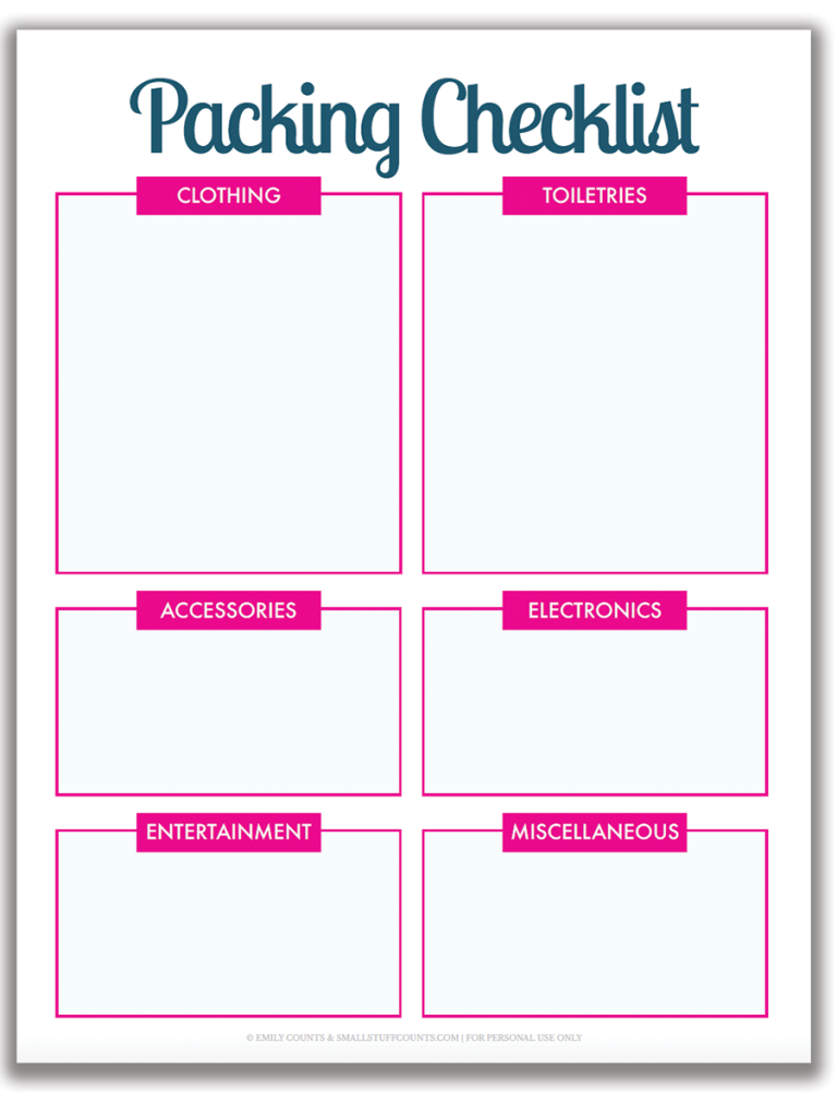 graphic regarding Free Printable Packing List referred to as Ready Drive: A Totally free Printable Packing Checklist For Your