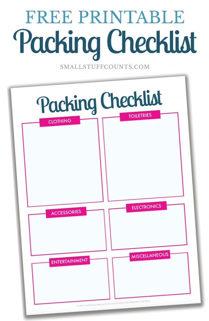 photograph relating to Free Printable Packing List called Ready Drive: A Free of charge Printable Packing Record For Your
