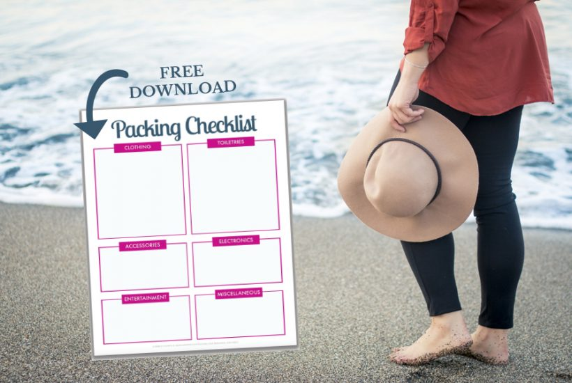 Organized Travel: A Free Printable Packing List For Your Next Trip