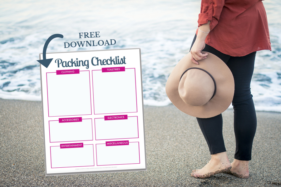 Planning a trip? Travel more organized with this free printable packing list. This packing checklist comes in A5 and letter sizes and is an edittable PDF.