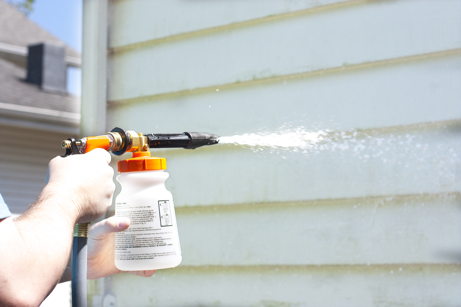 Washing A House Exterior Without Pressure Washer Small Stuff Counts