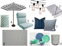 Updating The Patio – Aqua and Navy Patio Style