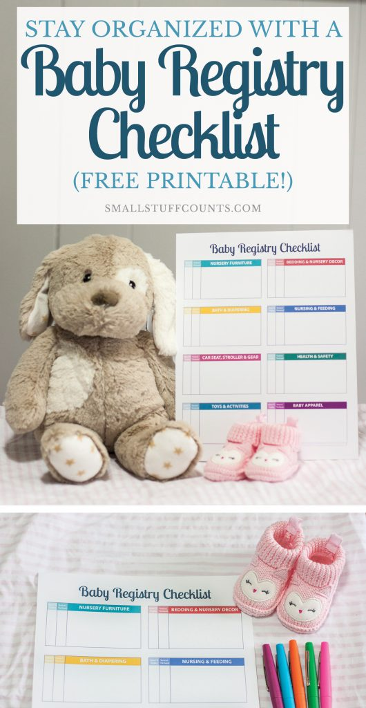 Stay Organized With A Baby Registry Checklist Free Printable