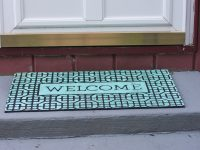 Thrifty DIY Painted Welcome Mat
