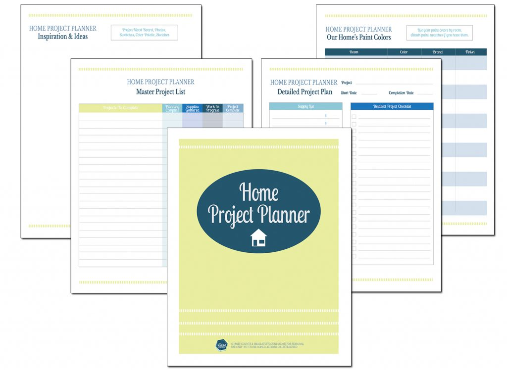 Getting Organized With A Home Project Planner Free Download