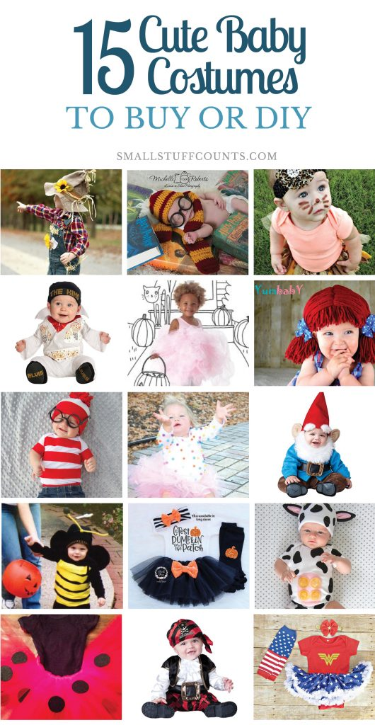 I love the cute baby costumes! So many good homemade and cheap baby costumes and toddlers in this post.