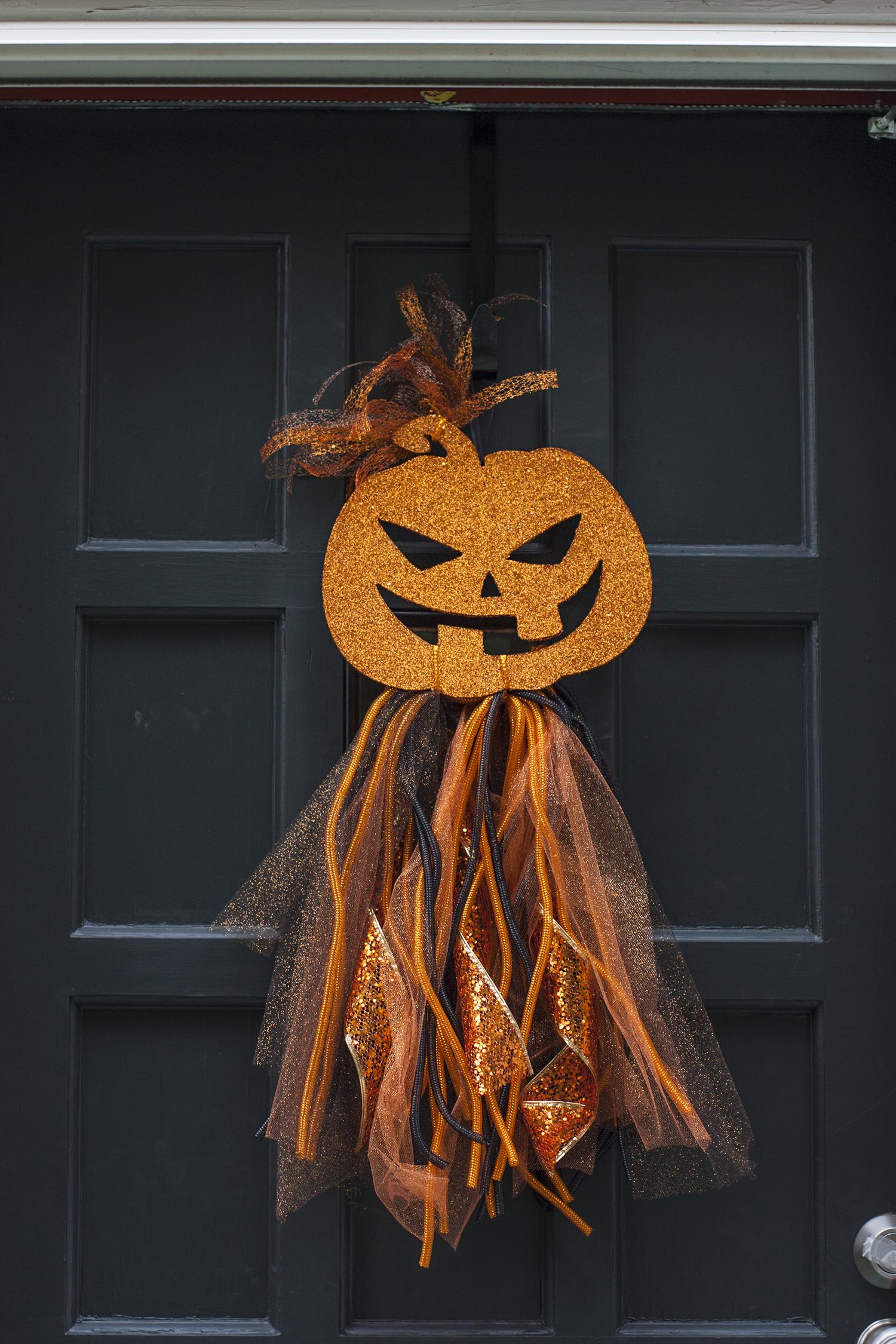 Diy Halloween Wreath Dollar Store Door Decor