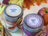 Easy Fall DIY Bath Salts Gift Idea ~ Pumpkin Spice & Apple Pie