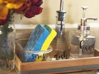 Making Cleanup Fast With An Organized Kitchen Sink & DIY Soap Dispenser