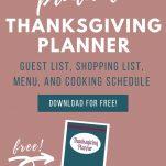 image of thanksgiving planning printable