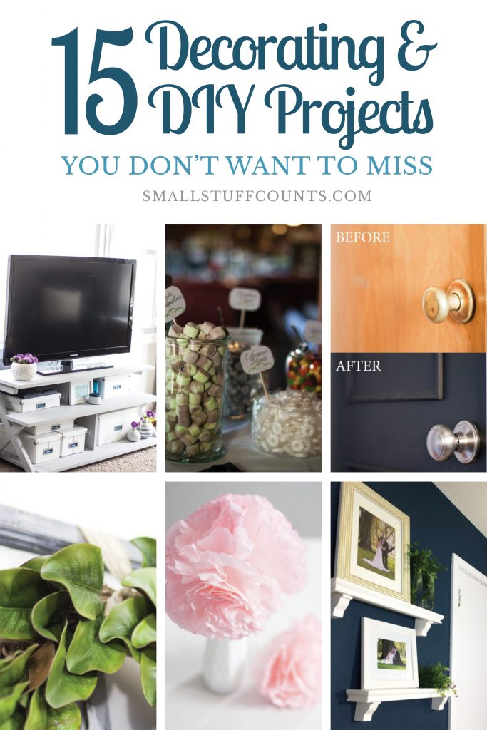 Check out these popular decorating and DIY projects! All kinds of ideas like upgrading flat doors, patching concrete steps, paper flowers, DIY gifts, planning room makeovers, and more.