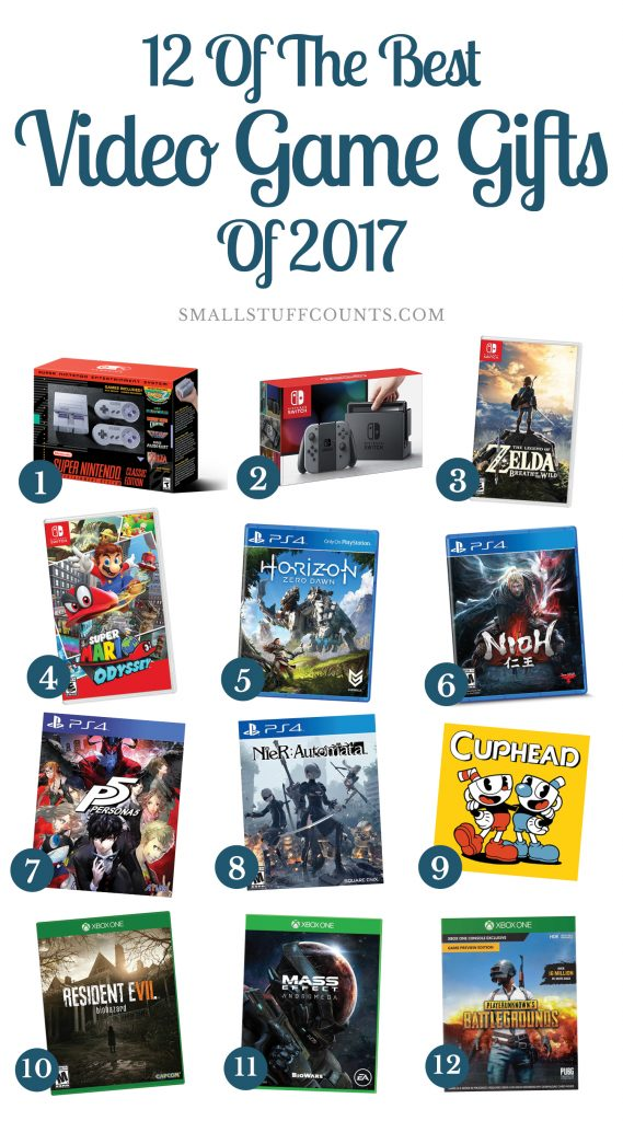 These are some good ideas for video game gifts this year! 2017 Video Game Gifts | Video Game Gift Ideas | Boyfriend Gift Ideas | Husband Gift Ideas | Gaming Gifts
