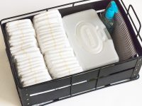 Organizing Diapers With A DIY Diaper Caddy