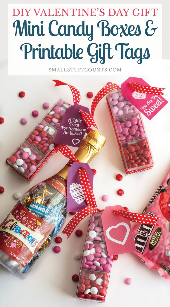 graphic regarding Printable Gift Box known as Do it yourself Valentines Working day Reward: Mini Sweet Packing containers Printable Present Tags