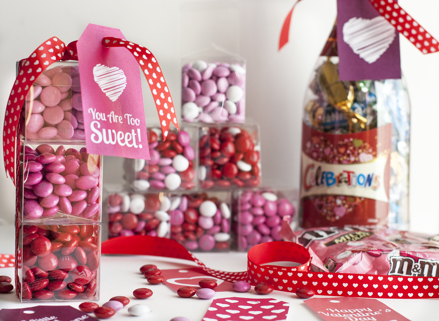 Happy Valentines Day Sweet Bags Favours DIY Gift Presents Gifts