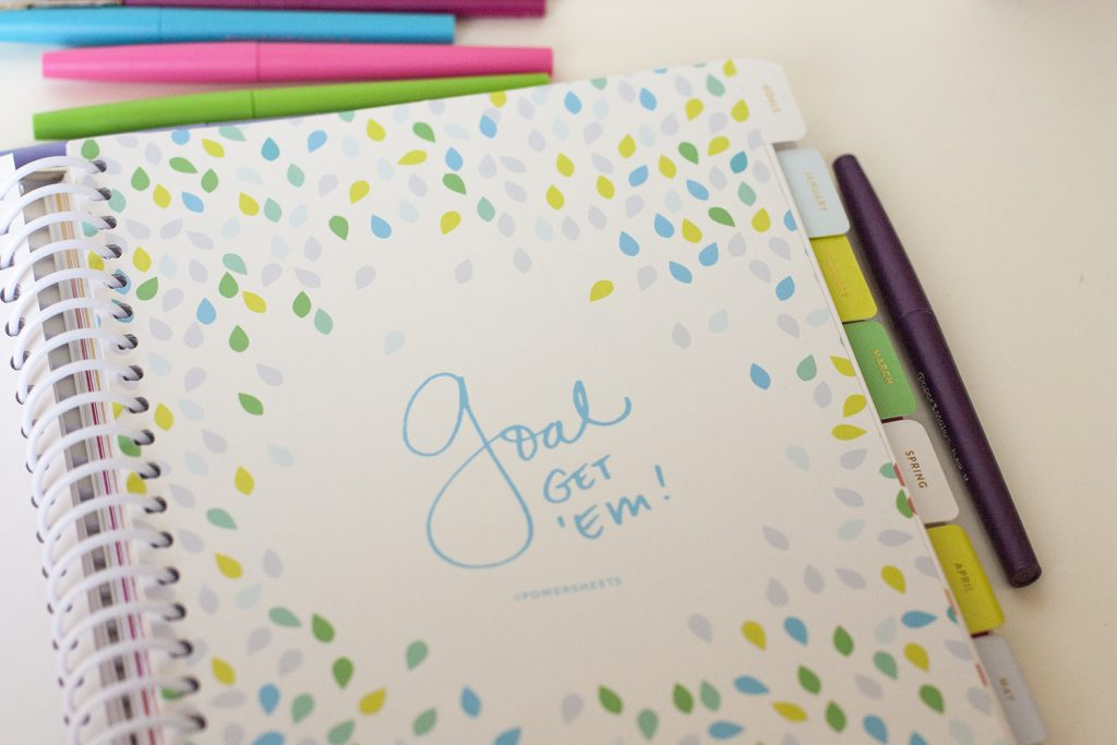 The Powersheets goal setting planner is amazing! I love all of the activities and how it helps you decide on a word of the year. It's also nice that it helps remind you of your goals every month.