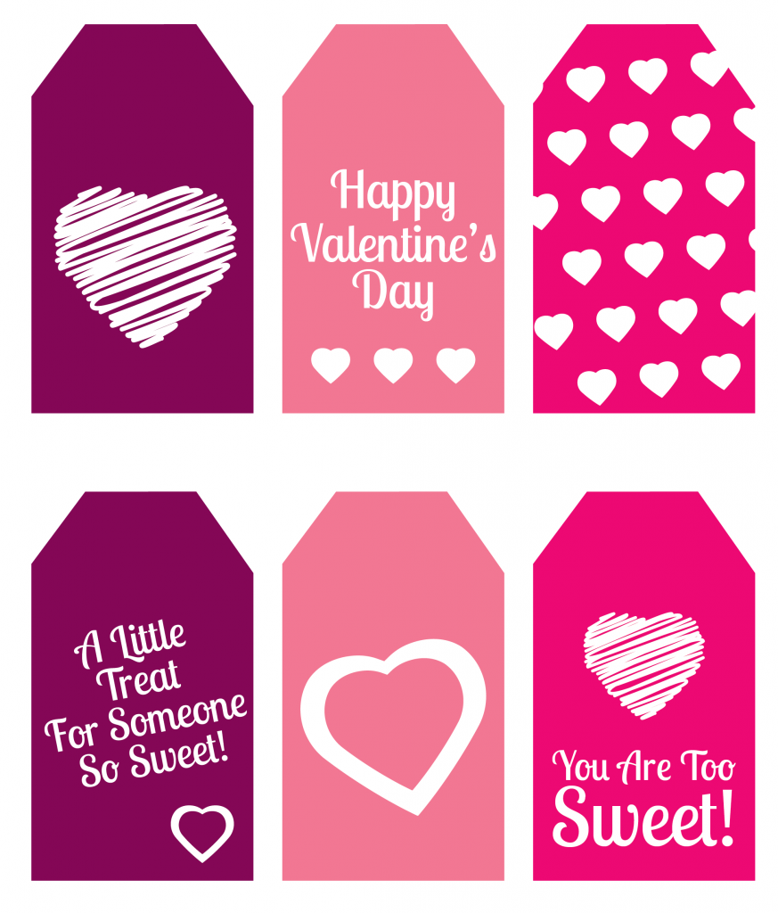 graphic regarding Valentine's Day Tags Printable named Do it yourself Valentines Working day Present: Mini Sweet Bins Printable Present Tags