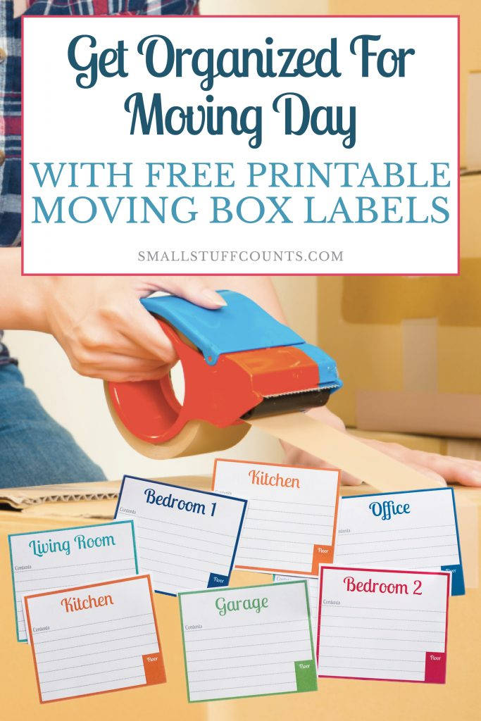 image relating to Stay Organized With a Printable Moving Checklist named Free of charge Printable Labels For Transferring Packing containers