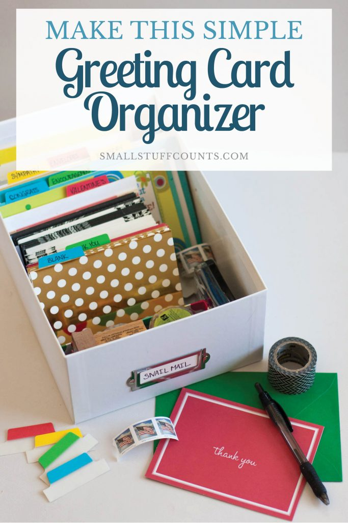 A diy greeting card organizer looking for an easy way to organize greeting cards this organized greeting card box is bookmarktalkfo Images