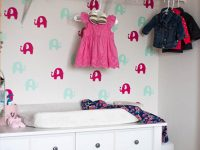 DIY Temporary Wallpaper For The Nursery