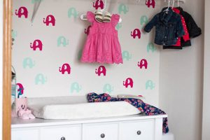 elephant-temporary-wallpaper-in-nursery-closet
