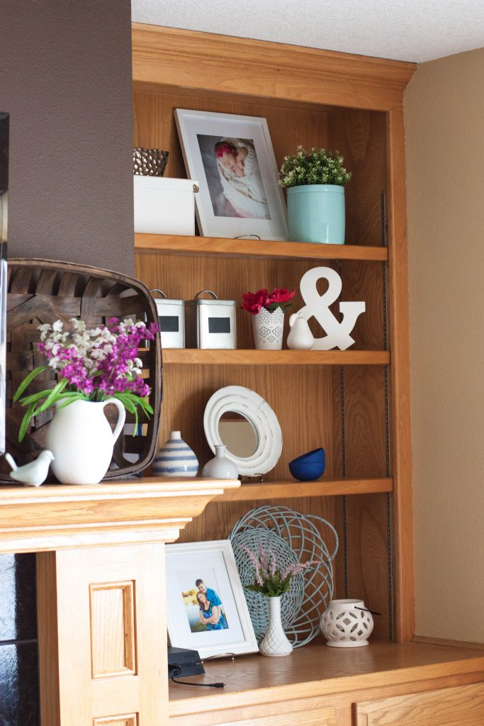 decorated-fireplace-and-shelves-for-spring