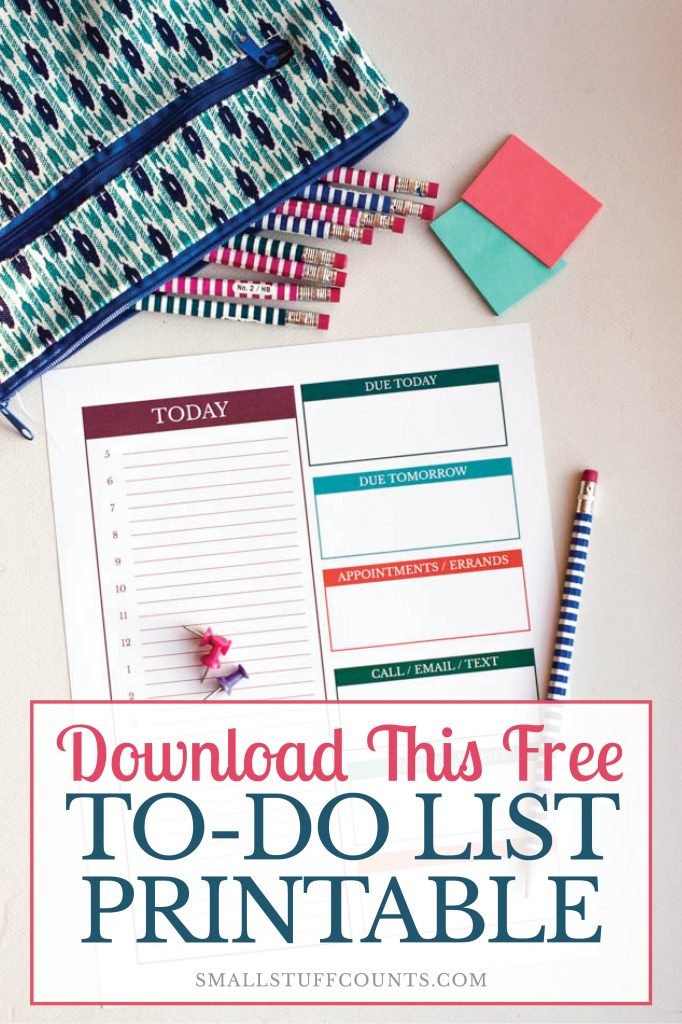 free daily to do list downloadable worksheet