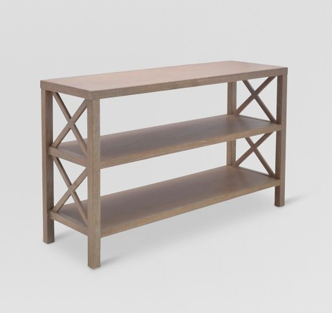 owing wood console table from Target