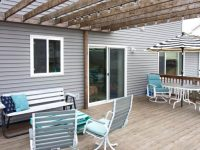 Hanging String Lights & Solar Deck Light Ideas
