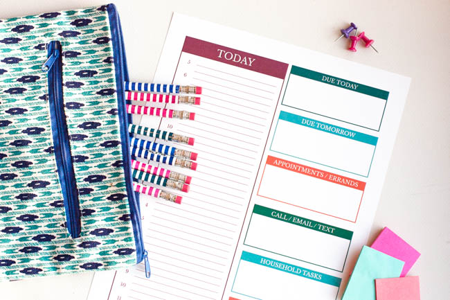 6 Tips For Planning Your Day And A Free Daily To Do List Printable