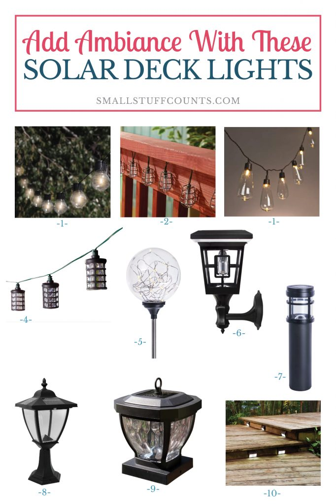 Solar deck lights from wayfair