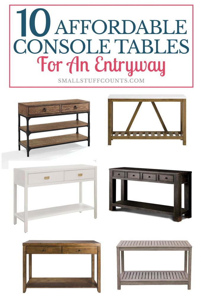wood console table ideas for an entryway