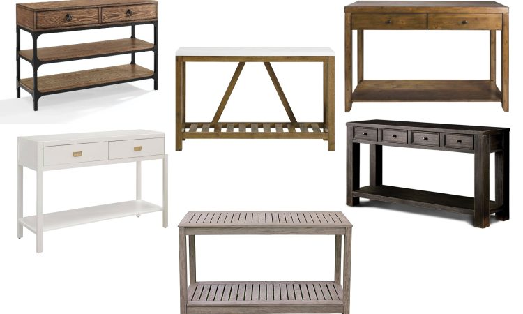 wood console tables for your entryway