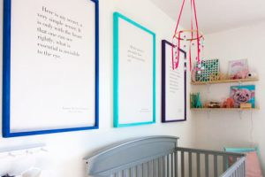 diy-picture-frames-in-nursery