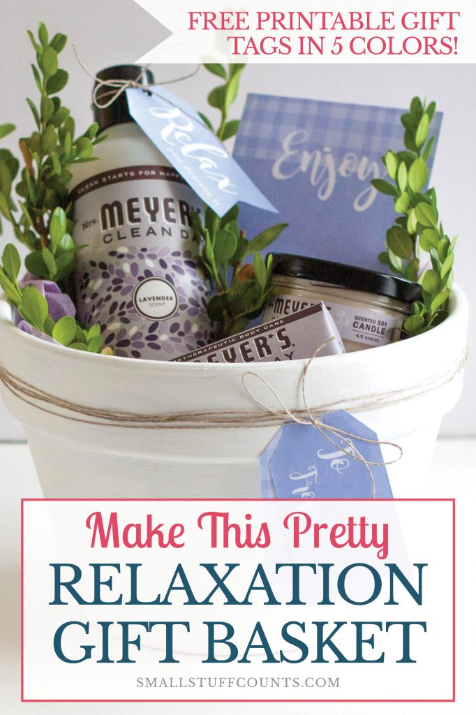 Lavendar Mrs Meyers Bath Products In Gift Basket