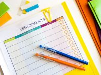 Organizing Homework With A Free Printable Assignment Tracker