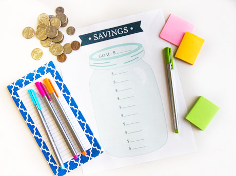 free-printable-savings-goal-tracker-worksheet-filled-in-with-pink-marker