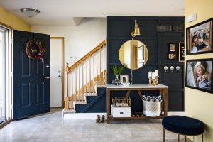 navy-blue-entryway-with-board-and-batten-and-brass-decor